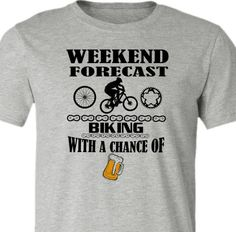 This awesome mountain bike t-shirt was inspired by many a cyclist's perfect weekend! Available in road bike and fat bike, too! Lightweight, 52% ringspun cotton/48% polyester super soft tee. Athletic H