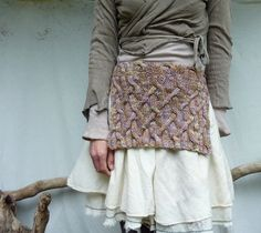 Ancestors Apron handknitted in pure merino wool by InnerWild
