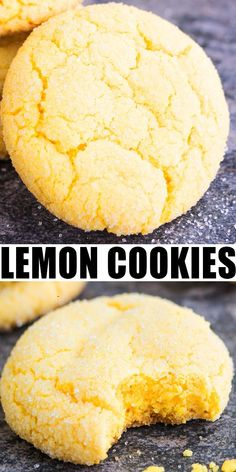 LEMON COOKIES RECIPE- Quick, easy, best, made from scratch with simple ingredients. Soft and chewy on the inside, crispy on the outside. Packed with lemon flavor from lemon zest, lemon juice, lemon extract. Recipe from cake mix also included. From CakeWhiz.com #cookies #dessert #dessertrecipes #lemon #snack #baking