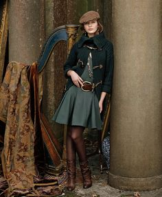 An eclectic mix of rich textures and accents from Ralph Lauren's Blue Label fall collection.