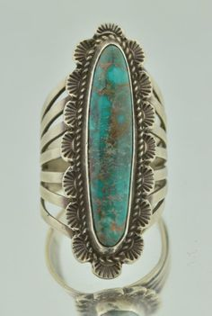 Vintage Native American Sterling Silver & Turquoise Ring