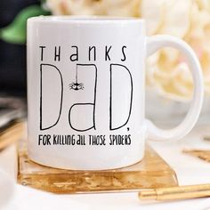 Fathers Day Gifts for Men Funny Fathers Day Gifts Mug Crafts, Dear Dad, Alcohol Gifts, Funny Fathers Day Gifts, Mugs For Men, Love Dad, Dad Mug, Baby Design, Gifts For Him