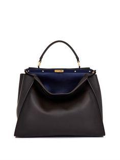 Peekaboo large leather tote | Fendi | MATCHESFASHION.COM great classic bag :)