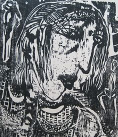 FCrum  Seeker  woodcut..FRANCES CRUM