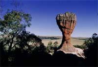 Vila Velha in Ponta Grossa - Paraná. A nature's desing on rocks sculptured by the wind...