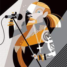 """Axl Rose"" by Pablo Lobato. [Graphic Design Illustration]"