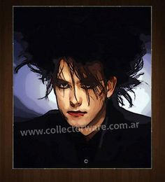 THE CURE Robert Smith drawing 4 OIL-ACRYLIC ON CANVAS PAINTING  *Please see details at www.collectorware...
