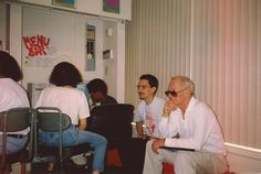 Paul Newman visiting LEAP, circa 1995