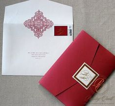 Paisley Quill: Jeannine and Fal's Hindu/Christian Wedding Invitation