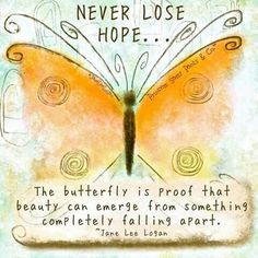 Embrace change, be filled with hope, live without restrictions and have no regrets. #mattersoftheheart ♡