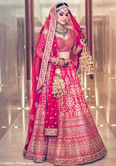 Bride With Pink Bridal Lehenga : Spotted Online Designer Bridal Lehenga, Pink Bridal Lehenga, Wedding Lehenga Designs, Wedding Lehnga, Indian Bridal Lehenga, Indian Bridal Outfits, Indian Bridal Fashion, Indian Bridal Wear, Indian Dresses