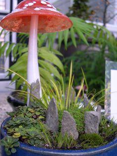 glass garden mushrooms - Google Search