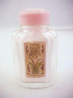 Vtg Sachet Muguet Des Bois Coty New York Paris 2 ozs Bottle Full #Coty