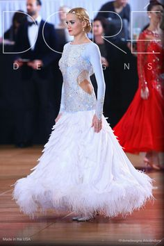 Competition Standard gown. I like the side cut-outs to make this conservative dress sexier.