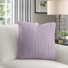 Birch Lane™ Heritage Lane Cotton Pillow Cover Size: H x W x D, Color: Ash Violet Throw Pillow Sets, Toss Pillows, Outdoor Throw Pillows, Ideias Diy, Cricut, Cushion Inserts, Cotton Pillow, Drapes Curtains, Decorative Pillows