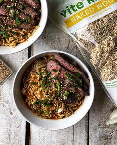 Spicy Ramen Recipe, Ramen Recipes, Healthy Ramen, Rice Vinegar, Green Onions, High Protein, Carrots, Beef, Cooking