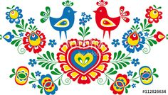 Popular Folk Embroidery Simplified folk ornaments from Moravia - Folk Embroidery, Learn Embroidery, Embroidery Stitches, Embroidery Patterns, Machine Embroidery, Floral Embroidery, Bordado Popular, Antique Quilts, Embroidery Techniques