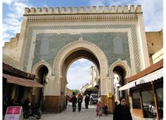 Blue gate of Fez In the old Medina Fez Morocco, Architecture, Notre Dame, Taj Mahal, Travel Photography, Old Things, Street View, Fes, Building