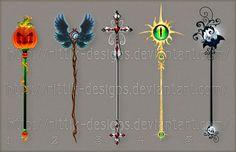 Staff designs 19 (Halloween set) by Rittik-Designs on deviantART