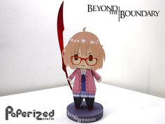 Paperized: Beyond The Boundary: Mirai Kuriyama Papercraft