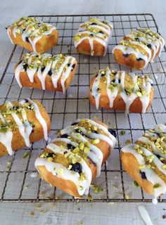 Pecan Danish Recipe, Cupcakes, Cupcake Cakes, Mini Desserts, Dessert Recipes, Mini Loaf Cakes, Cake Pops, New Zealand Food, Lemon Icing