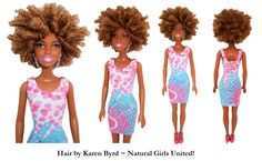 Tight spiral kinky hair doll. Hair by Karen Byrd. Natural Girls United. www.naturalgirlsunited.com