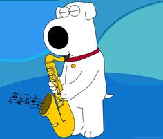 Brian Griffin Playing Saxophone wallpaper for Samsung Galaxy Tab