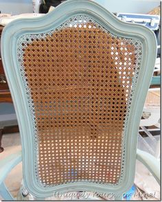 Cane back chair makeover