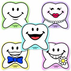 Tooth Shaped Stickers - Sticker Assortments from SmileMakers