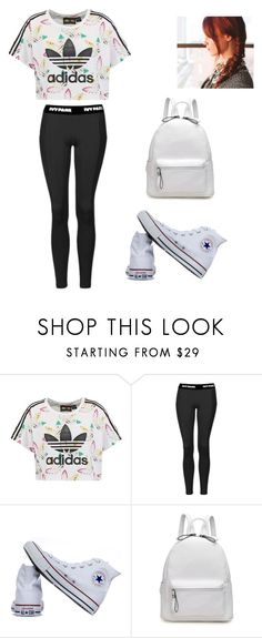 """""""Sidewalk Slayin"""" by butterflygum ❤ liked on Polyvore featuring adidas Originals, Topshop and Converse"""