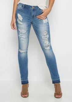 Flex Ripped & Repaired Skinny Jean | rue21