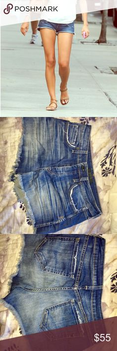 Genetic brand denim jean cutoff shorts Genetic brand, excellent condition, worn once, frayed edges for natural distressed look, high rise. 92% cotton, 8% elastic material. Comfyyy! Genetic Denim Shorts Jean Shorts