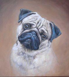 Pug by Simon Zoltan by ZoltanSimon on DeviantArt French Bulldog Art, Baby Pugs, Dog Artwork, Pug Art, Pug Puppies, Labrador Retriever Dog, Bull Terrier Dog, Dog Paintings, Pug Love