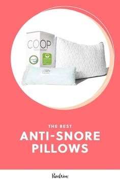 Do you (or your loved ones) sound like a bulldog when sleeping? Here's what a sleep doctor says about anti-snore pillows. #snoring #pillows #sleep