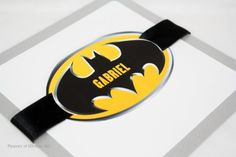 invitation batman birthday party! Love this too...put the names of the kids being invited