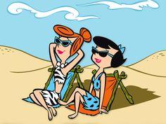 The Flintstones - Wilma Flintstone & Betty Rubble - Hanna-Barbera Cartoon Cartoon, Morning Cartoon, Vintage Cartoon, Classic Cartoon Characters, Classic Cartoons, Disney Characters, Retro Cartoons, Cool Cartoons, Fictional Characters