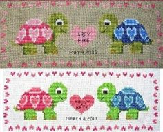 Turtle Love Cross Stitch Pattern