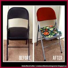 Dollar Store Crafter: Folding Chair Makeover