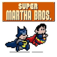 #BatmanvSuperman #MarioBros #Mashup!  #Batman #Superman #MarthaWayne #MarthaKent #MarioandLuigi #SuperMarioBros #Mario #Luigi #Nintendo #NES #DCcomics #MashupMonday #MondayMashup