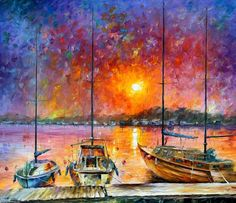 Only 5h left! SHIPS OF FREEDOM - limited edition giclee by L.Afremov. First bid $59 http://www.ebay.com/itm/131842357386