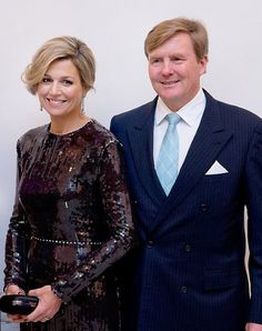 King Willem-Alexander and Queen Maxima  attended the opening concert for the Dutch presidency of the European Union council at the Bozar on January 22, 2016 in Brussels, Belgium.
