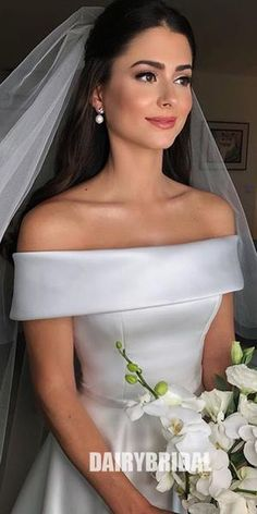 White Off Shoulder Wedding Dresses, Satin Wedding Gowns, Elegant Bridal Dresses, Sexy Wedding Party Dresses sold by Everbeauties Prom Dress on Storenvy Cheap Bridal Dresses, Cheap Wedding Dresses Online, Sexy Wedding Dresses, Princess Wedding Dresses, Prom Dresses, Blue Dresses, Reception Dresses, Long Dresses, Casual Dresses