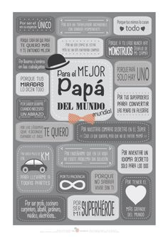 Feliz dia del padre - Song Tutorial and Ideas Happy Fathers Day, Fathers Day Gifts, Don Papa, Daddy Day, Mr Wonderful, Ideas Para Fiestas, Mother And Father, Father Sday, Mom And Dad