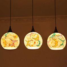 Mediterranean Warm Shell Dining Room Pendant Lamp Kid's Room Pendant Lamp Bar Pendant Lamp
