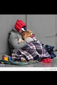 homeless men with his dog! love