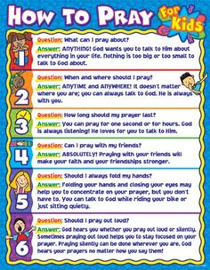 Carson Dellosa How to Pray for Kids Chart - x Reproducible worksheets on the back<br> Sunday School Crafts For Kids, Sunday School Activities, Bible Activities, Sunday School Lessons, Sunday School Rules, Bible Study For Kids, Bible Lessons For Kids, Kids Bible, Bible Verses For Kids