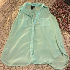 Mint green tank ! Worn but in good condition Tops Tank Tops