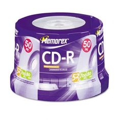 CD-R Discs - 700MB/80min, 52x, Spindle, Silver, 50/Pack(sold in packs of 3) by Memorex. $49.49. CD-R Discs - 700MB/80min,  52x,  Spindle,  Silver,  50/Pack(sold in packs of 3)