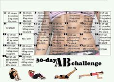 30 day ab challenge, started yesterday! Hopefully I get my abs back in no time!