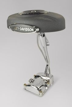 Kickstand Lamp made from recycled Harley Davidson parts. $250,00, via Etsy.